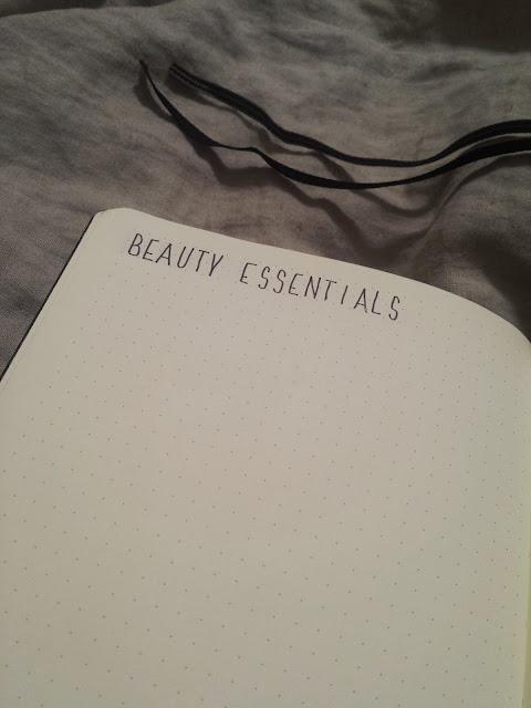 2017 Bullet Journal Beauty Essentials
