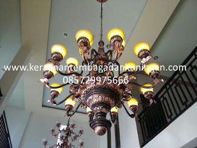 Lampu Gantung Robyong Tembaga