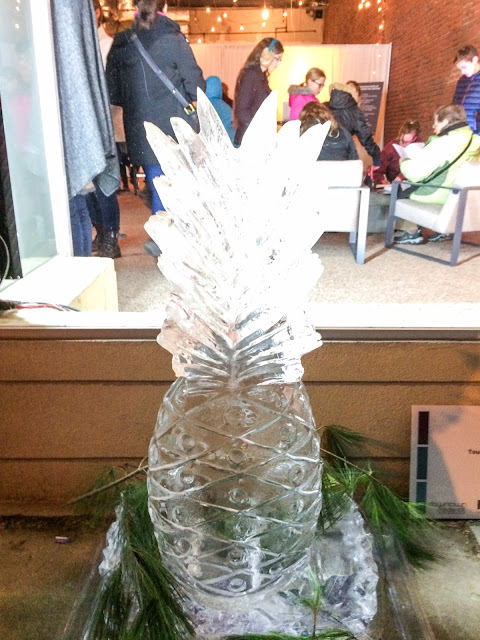 ice sculpture pineapple frederick maryland fire in ice