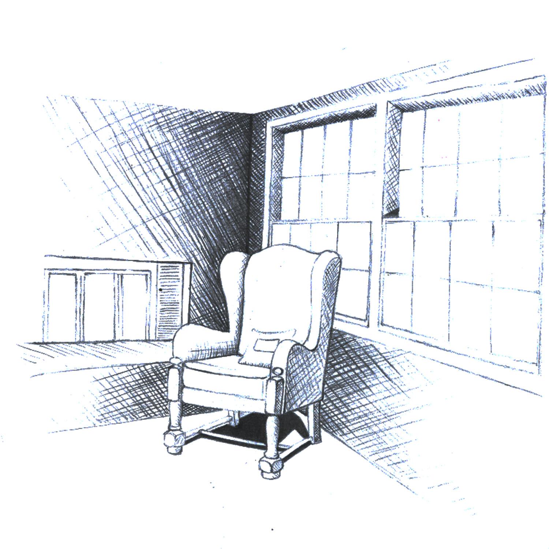 corner of a room sketch designs by linnea