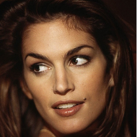 #13. The most famous person with a mole sitting by the end of the lips may be Cindy Crawford. - These Moles On Your Body May Reveal Secrets About Your Life.