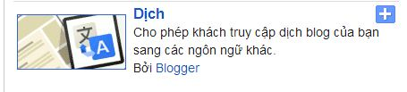 Google dịch, google translate blogger