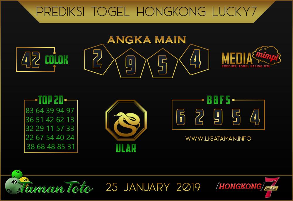 Prediksi Togel HONGKONG LUCKY7 TAMAN TOTO 25 JANUARI 2019
