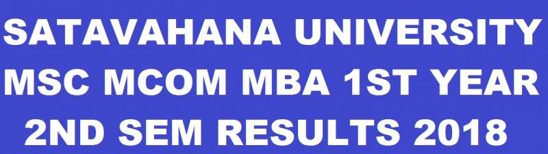 SU PG 1st Year 2nd Sem Results