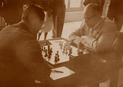 Partida de ajedrez Ribera-Olmo, I Torneo Internacional de Santander-1948