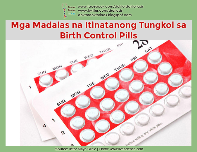 Mga Madalas na Tanong Tungkol sa Birth Control Pills - Doktor Doktor