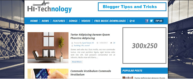 Hi-Tech Technology Free Blogger Template