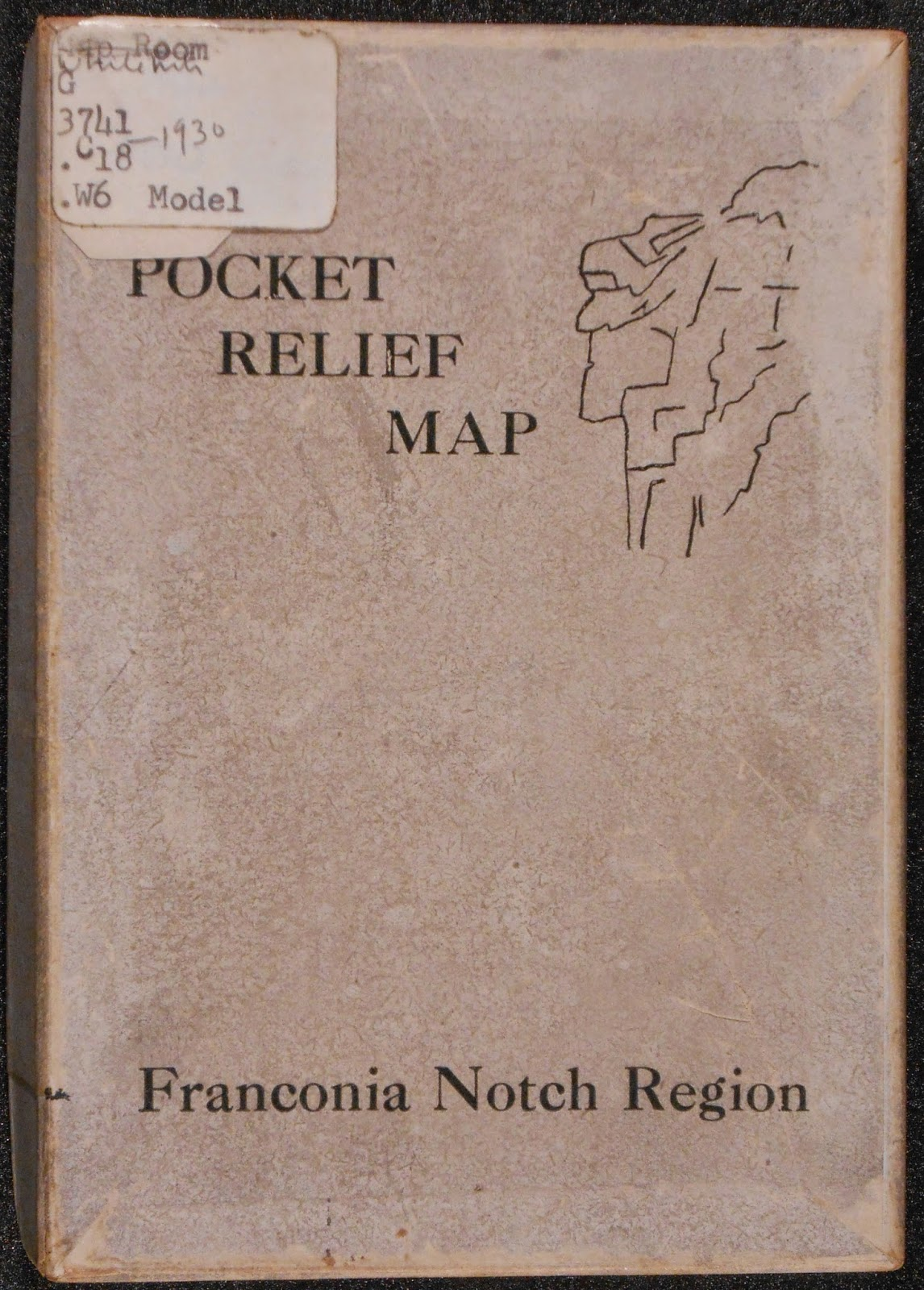 "The cover for ""Pocket Relief Map."""