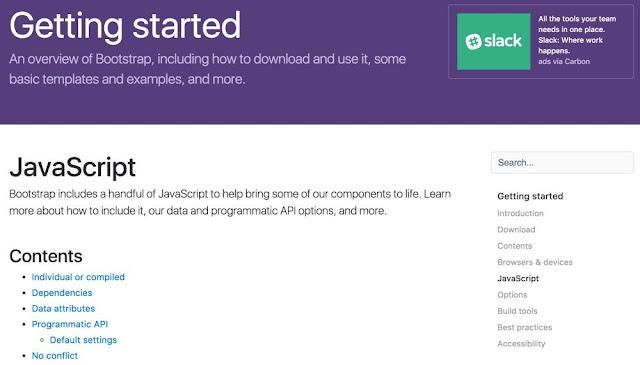Bootstrap 4 JavaScript