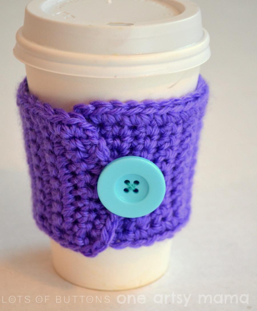 Crochet Coffee Cozy - One Artsy Mama