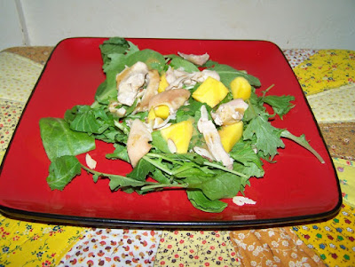 Mango Chicken Lettuce Salad