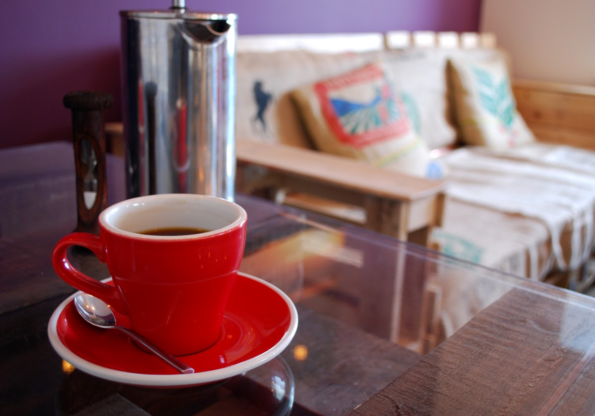 French press coffee at The Coffee Apothecary Udny Aberdeenshire