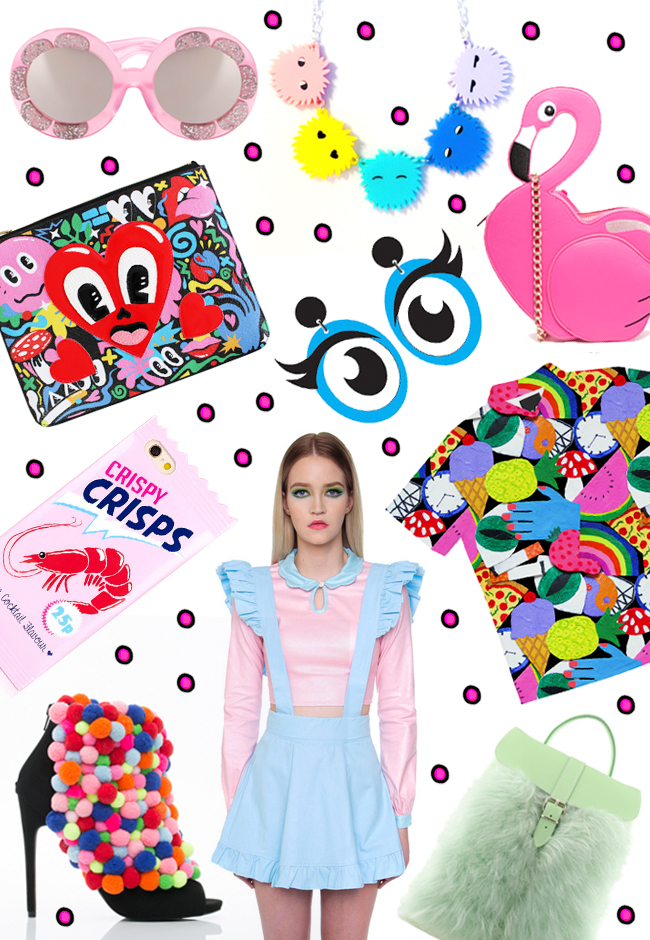 shopping finds, rainbow colours, colourful prints