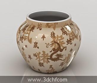 ceramic pot 3d model free