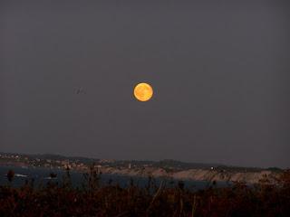 Luna llena horizonte