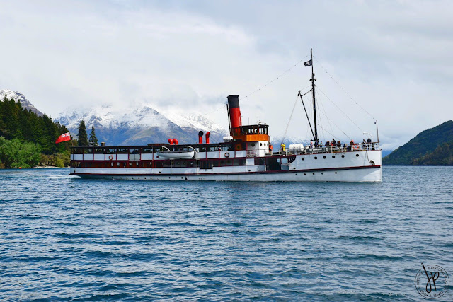 steamship on lake