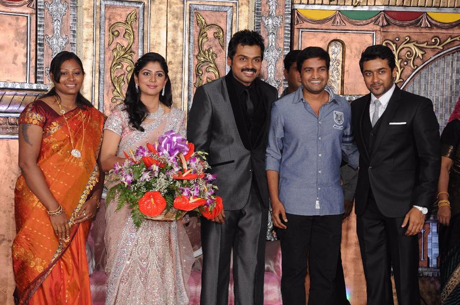 Santhanam In Actor Karthi S Wedding Reception