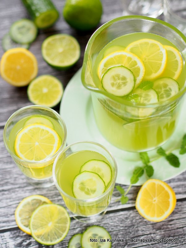 na letnie upaly, orzezwienie, na lato, napoj orzezwiajacy, napoj ogorkowy, lemoniada ogorkowa, ogorek, do picia, pij na zdrowie