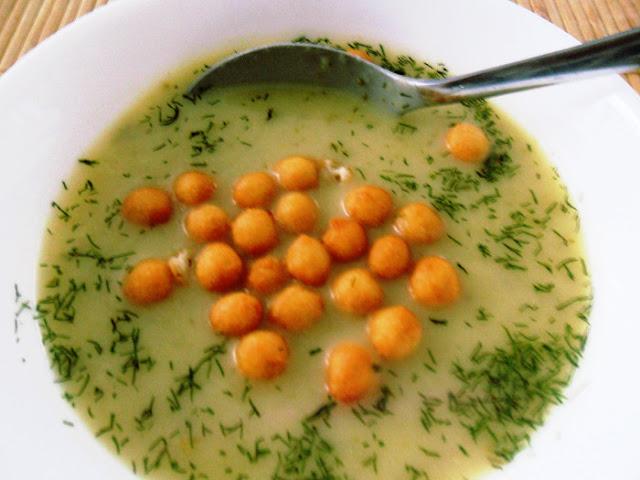 Zupa krem z zielonego ogórka, pani domowa, zupa, przepis, ogórek, krem