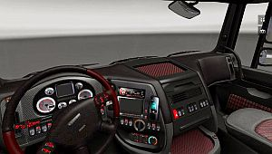 Heavy Metal interior for DAF XF SCS