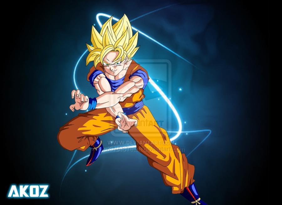Permainan Bola Sepak Hidup Goku Sebagai Super Saiyan