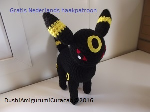 Dushi Amigurumi Curacao Nederlands Haakpatroon Umbreon Pokemon