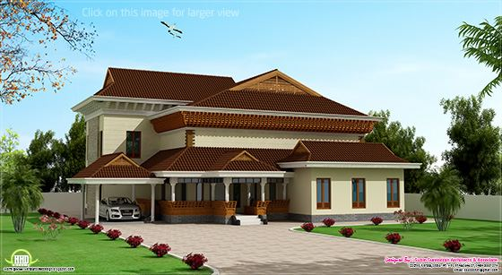 Traditional mix Kerala house