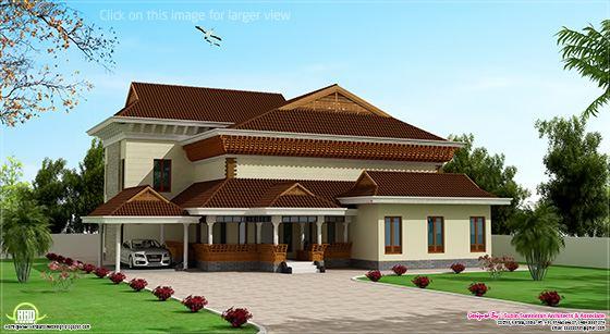 Traditional mix Kerala house