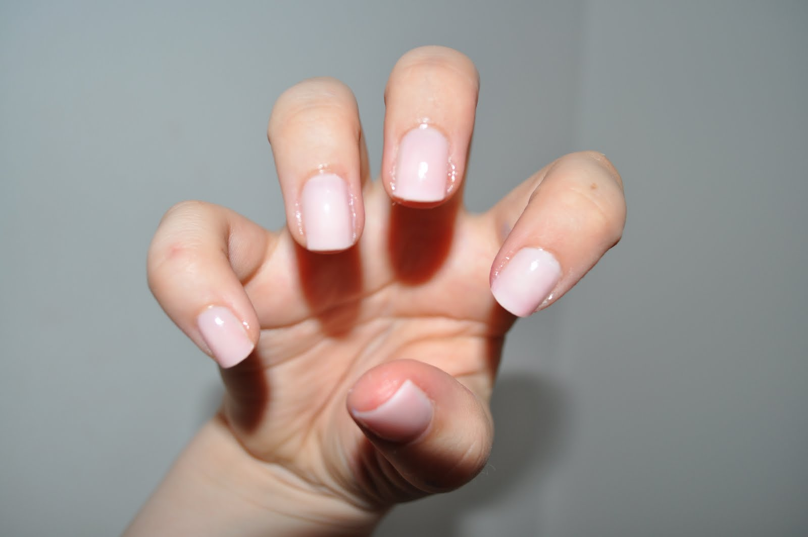 Light Pink Acrylic Nails Rounded Papillon Day Spa