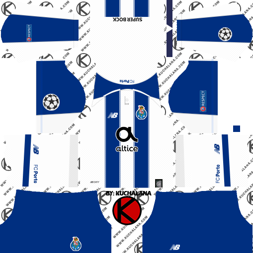 dabd6268b25ff FC Porto 2018/19 Kit - Dream League Soccer Kits - Kuchalana
