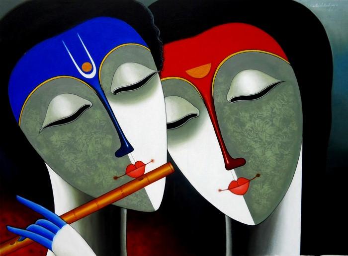 Индийский художник. Santosh Chattopadhyay 3