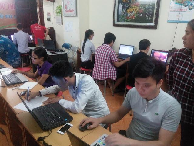 Các học viên trong khóa học wordpress