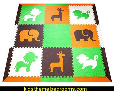 SoftTiles Safari Animals Foam Play Mat