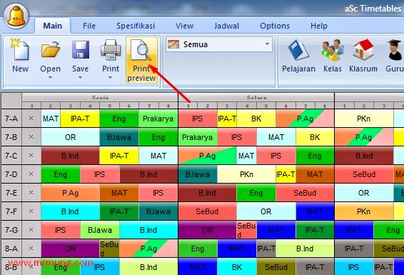 Cara Print Out Jadwal Pelajaran Asc Timetables Ke Format Xps Mr