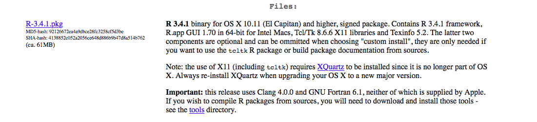 Downloading and Installing R on (Mac) OS X - OindrilaSen