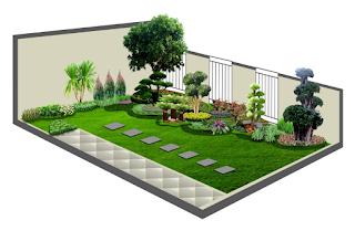 desain halaman rumah taman minimalis