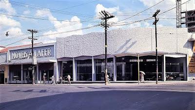 A fachada da principal loja da Lafer, na Rua Lavapés nº 6 no Bairro Cambuci em São Paulo, no fim da década de 1960. (foto: arquivo da Lafer)