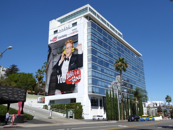 Giant Tyler Oakley You Tube billboard