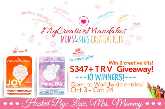 My creative mandalas moms & kids creative kids giveaway | www.sahmplus.com