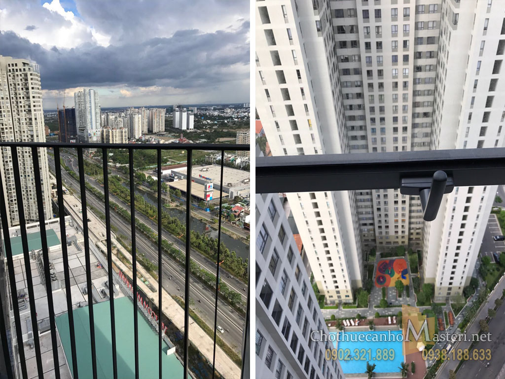 Căn hộ cho thuê Masteri quận 2 tầng cao 2PN tòa nhà T1