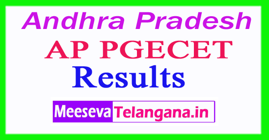 AP PGECET Results 2018