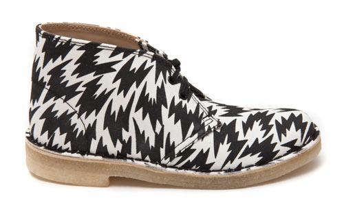 Diseño de zapatos con patrones muy interesantes.