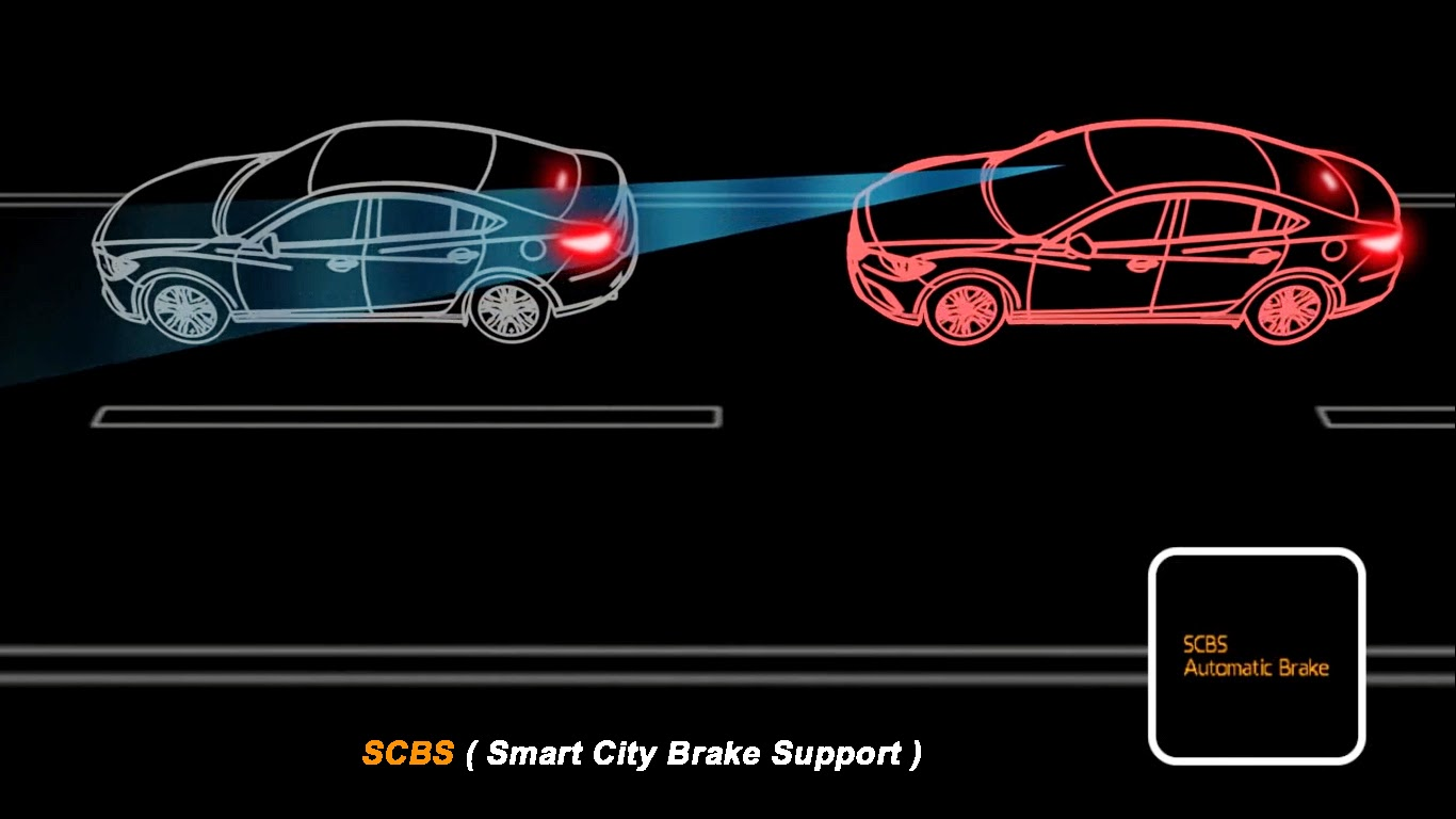 SCBS, Smart City Brake Support, mazda 2 skyactiv