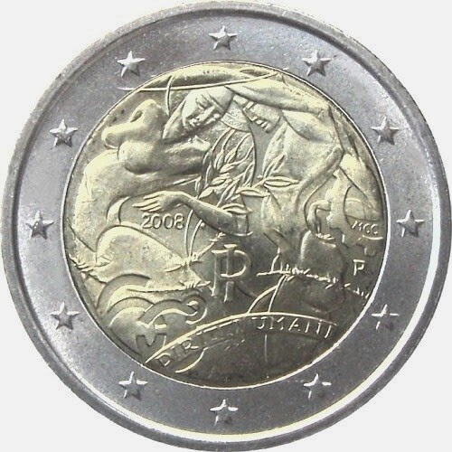 2 euro Italy 2008, Universal Declaration of Human Rights