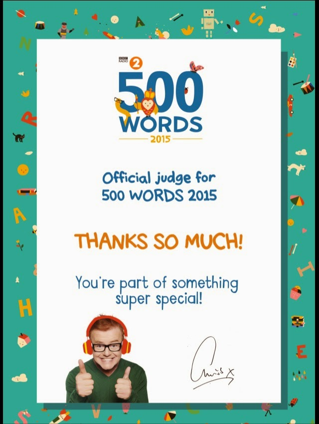 Chris Evans' 500 Words Comp