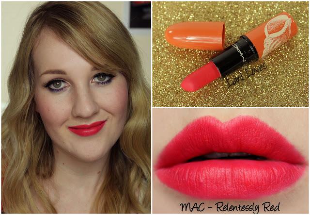MAC Relentlessly Red lipstick swatch
