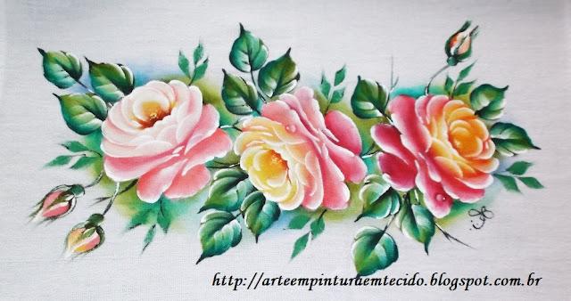 pintura em tecido pano de prato