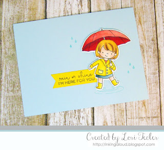 Rain or Shine card-designed by Lori Tecler/Inking Aloud-stamps from Hello Bluebird