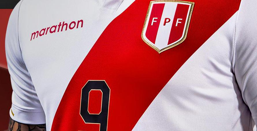 39515387f4f Official supplier Marathon Sports just released the new Peru home kit for  the 2019 Copa America, which will start next month in Brazil.