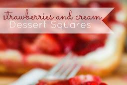 Strawberries & Cream Dessert Squares Recipe